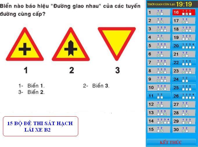 đề thi lý thuyết hạng b2